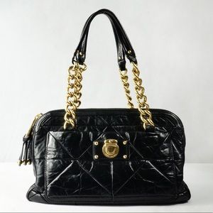 Marc Jacobs Black Quilted Leather Handbag